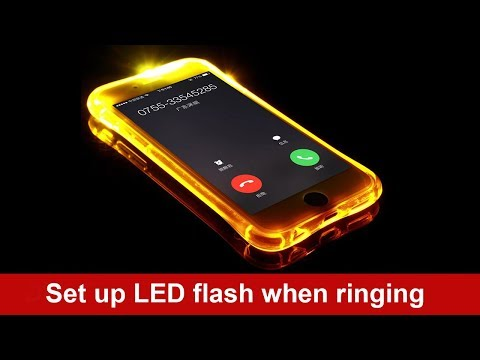 How to set up LED flash when ringing