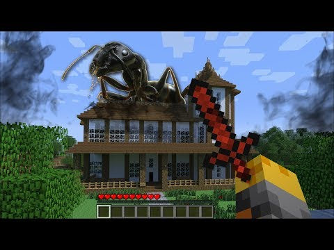 GIANT ANT APPEARS IN OUR HOUSE IN MINECRAFT !! Minecraft Mods