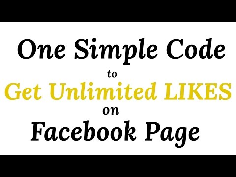 One secret code to Increase likes on facebook page