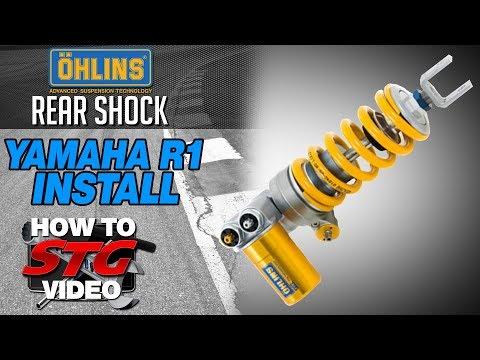 How to Install an Ohlins Rear Shock on a 15-17 Yamaha YZF-R1 from SportbikeTrackGear.com