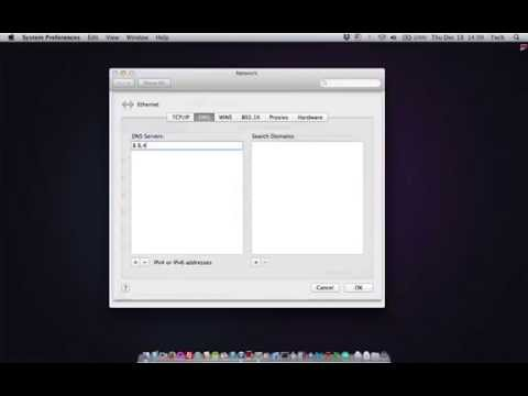 Change Your DNS Server on a Mac