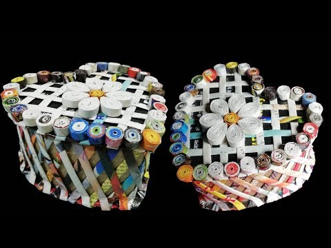 Make a Heart shaped box using newspaper & Cardboard DIY Newspaper Craft Idea LifeStyle Designs