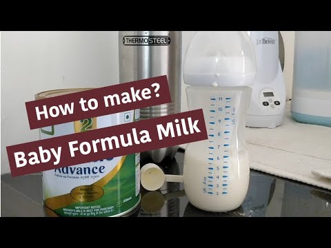 How To Make Baby Formula Milk !!