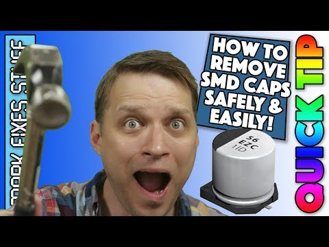Remove SMD Electrolytic Capacitors gently without special tools