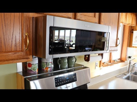 Kitchen Update Part 5 Installing The Whirlpool Microwave Range Hood