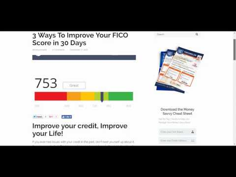 3 Ways To Improve Your FICO Score in 30 Days