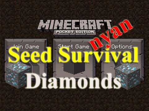 Minecraft PE Seed Survival - nyan - episode 2 - The Diamond Mine