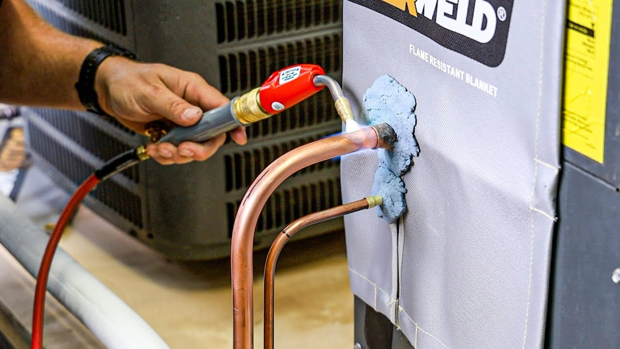 How to Bend, Prep, and BRAZE Copper to Copper on an HVAC System