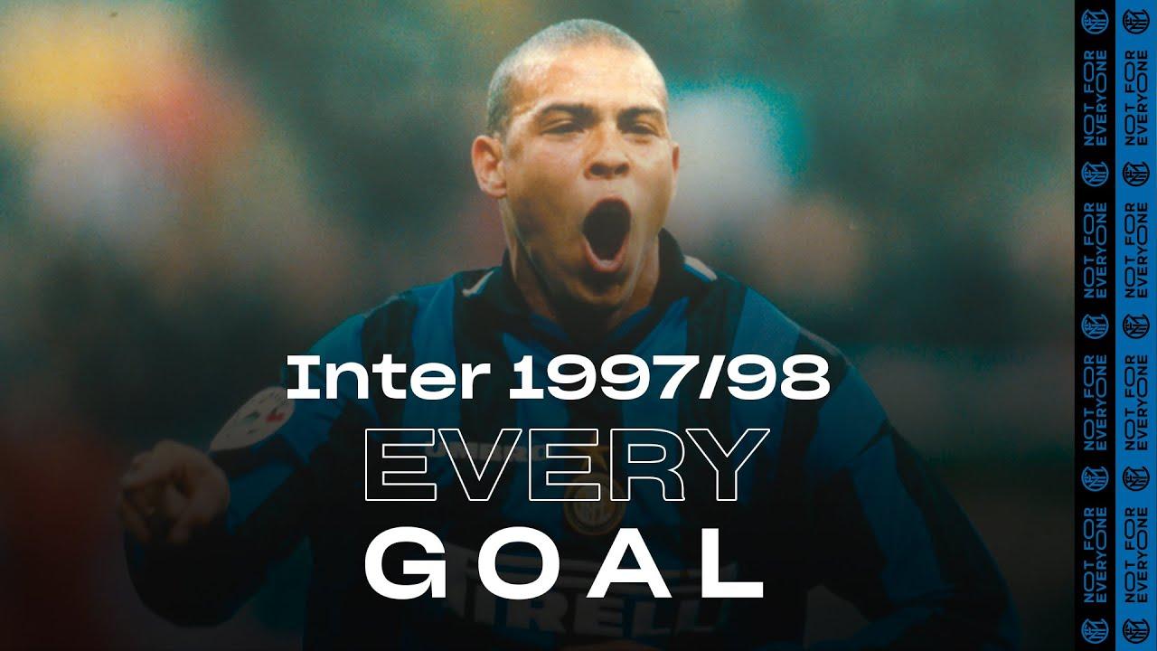EVERY GOAL!   INTER 1997/98   Ronaldo, Djorkaeff, Zanetti, Simeone, Recoba and many more...! ⚽⚫🔵❤️