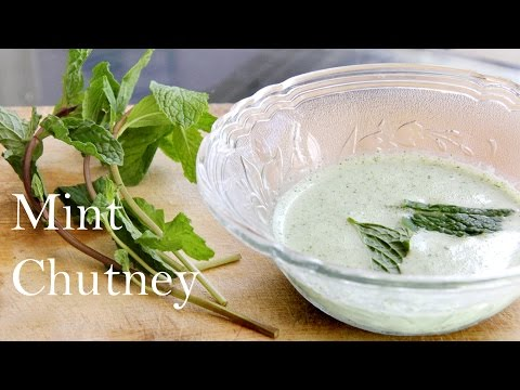 Mint (Pudina) Chutney Recipe | Indian Yogurt Dip (Mint Chutney) for Snacks Appetizers By Shilpi