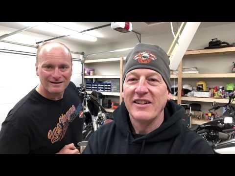 Law Abiding Biker film day-Oscar is soaked-Harley brake flush