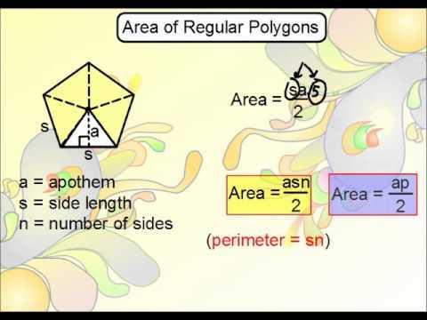 Geometry - Area of Regular Polygons