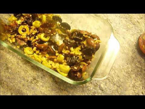 Olive starter salad- zeytoon parvardeh
