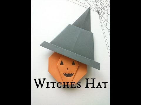 Halloween Origami Witches Hat Tutorial