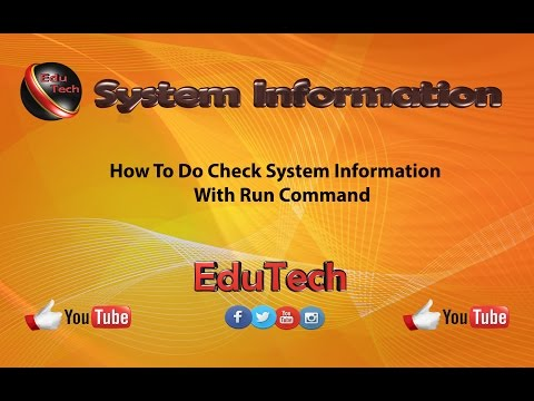 How To Do Check System Information of Your Computer(EduTech)