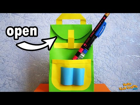 How to make Backpack Paper Bag?