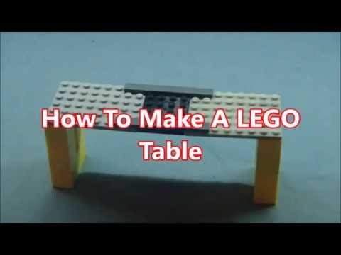 How To Make A Table For WWE Figures WITH LEGO!!!
