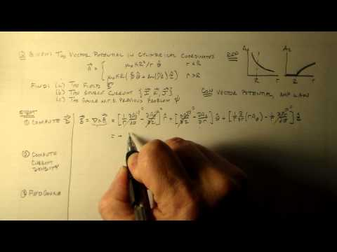 Finding the Current when Given the Vector Potential