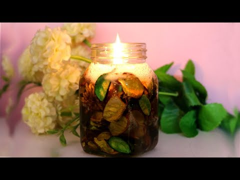 How To Make Designer Flower Gel Candles | DIY Home Decor Ideas | Little Crafties