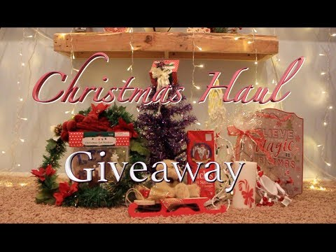 Christmas Giveaway Decoration Haul 2017