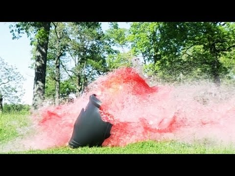 Airbag Exploding Trashcan Full of Water