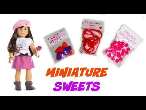 DIY American Girl Food - Sweets