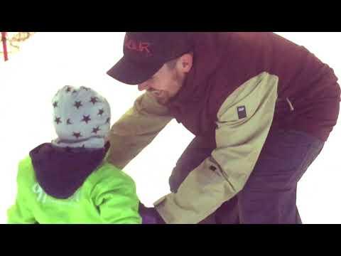 Primer dia de snowboard de Oscar