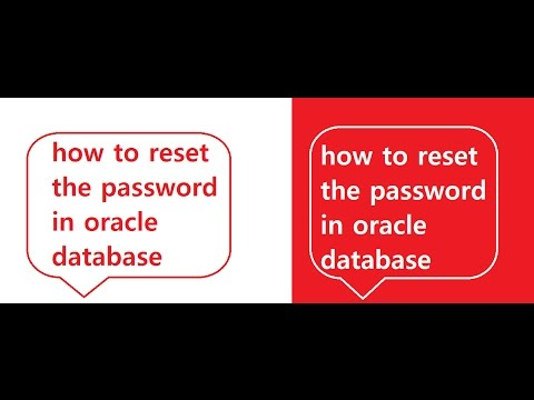 how to reset the password in oracle database