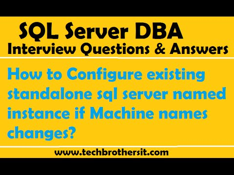 How to Configure existing standalone sql server named instance if Machine names changes