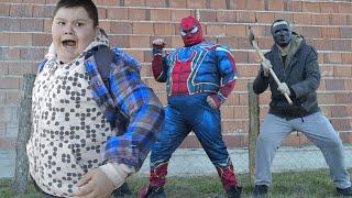 Spider-Man Saving The Kid