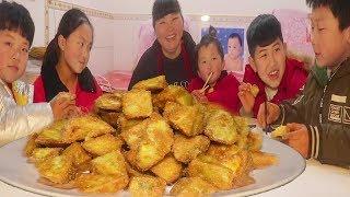 3斤红薯,教你最好吃的做法,甜而不腻,孩子们一口一个抢着吃!【陕北霞姐】