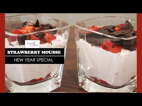 Strawberry Mousse | How To Make Strawberry Mousse | New Year Special | Simply Jain