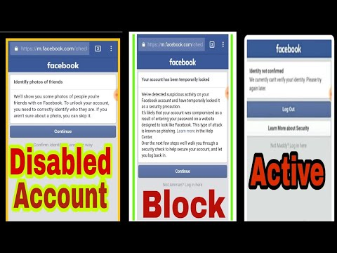 How to unlock disabled facebook account || Hindi || 2018