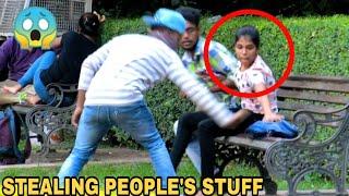 STEALING PEOPLE STUFF PRANK !! PRANK IN INDIA || MOUZ PRANK