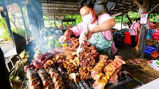 Download Thai Street Food - EXTREME BBQ MEAT TOUR in Chiang Mai, Northern Thailand | Thai Sausage and Laap! Video
