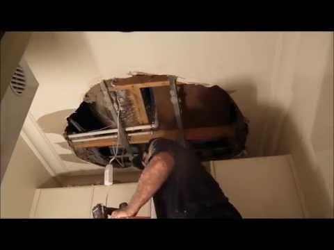 Large Hole in Ceiling Repair ~ Hawthorn Plaster Repairs