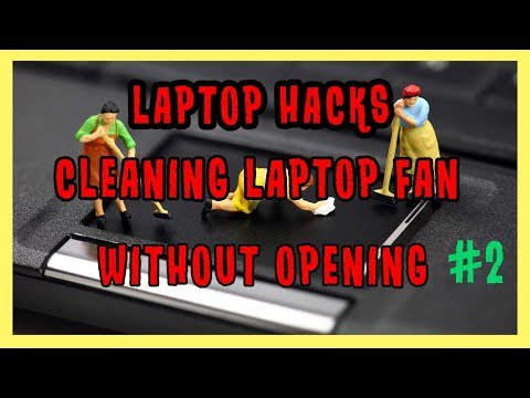 How to Clean Up Laptop Fan Without Opening - Hack #2