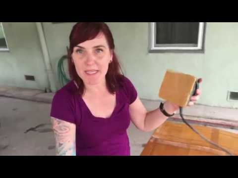 Lola Demonstrates How to Shabby Chic a Wood Desk with Latex Paint