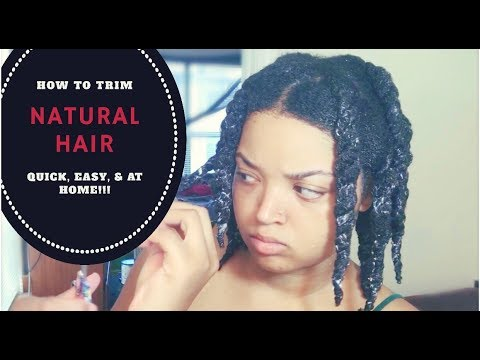 HOW TO TRIM NATURAL HAIR | QUICK, EASY, & AT HOME