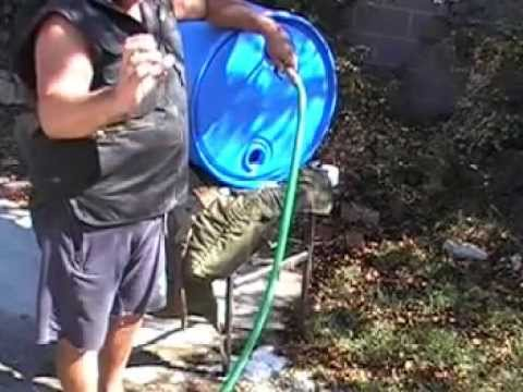 55 gal drum cleaning & water storage