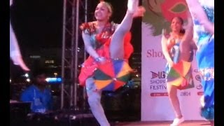 Brazilian Umbrella Dance (frevo) In Dubai Shopping Festival 2014