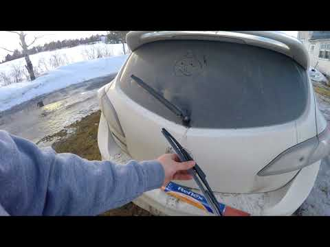 Easiest way to replace a rear windshield wiper on a Mazdaspeed3