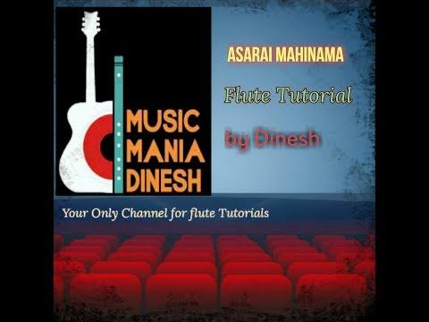 Asarai mahinama Easy Flute tutorial -  Nepali lesson by Dinesh