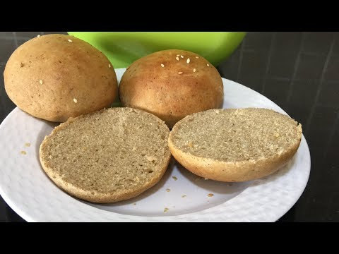 100% Whole Wheat Burger Buns | Homemade Burger Buns
