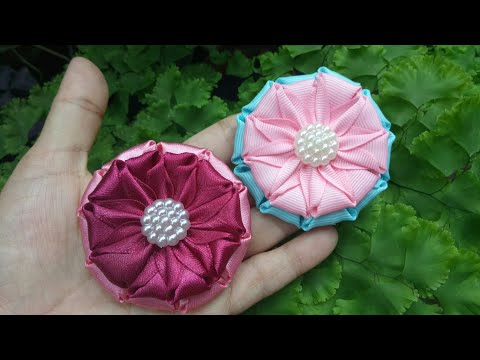 117) Tutorial Kanzashi Flower || Sabrina Brooch