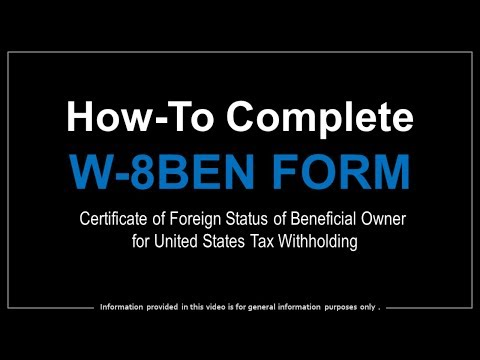 How to Complete W-8BEN Form