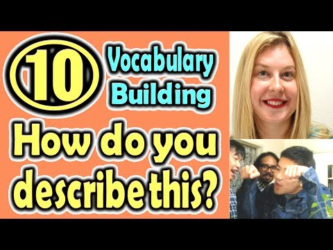 How do you describe this?(10) (Vocabulary Building) [ ForB English Lesson ]
