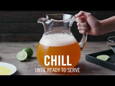 How To Make A Candy Corn Margarita - TheCocktailProject.com