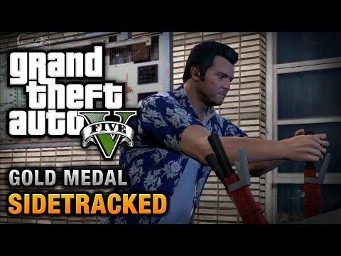 GTA 5 - Mission #78 - Sidetracked [100% Gold Medal Walkthrough]