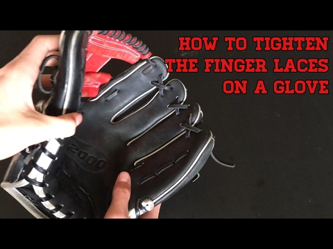 How to Tighten the Finger Laces on a Glove